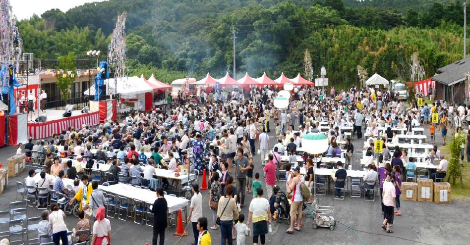 はっぴー園夏祭りの様子です,社会福祉法人恵会,はっぴー園,鹿児島,デイサービス